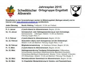 Jahresplan 2015